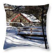 Sudbury - Grist Mill In The Woods Throw Pillow