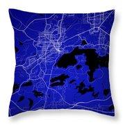 Sudbury Street Map - Sudbury Canada Road Map Art On Colored Back Throw Pillow