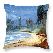 Sudden Storm Faro De Punta Tuna Throw Pillow
