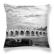 Suez Canal, 1894 Throw Pillow