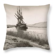 Suez Canal, C1895 Throw Pillow