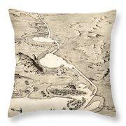 Suez Canal Throw Pillow