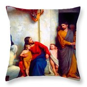 Suffer The Children Throw Pillow