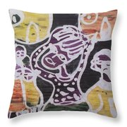 Suffering From Sickness Throw Pillow