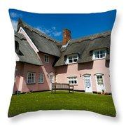 Suffolk Pink Throw Pillow