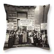 Suffrage Protest, 1916 Throw Pillow