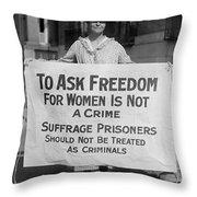 Suffragist 1917 Throw Pillow