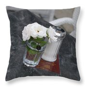 Sugar And Flowers Throw Pillow