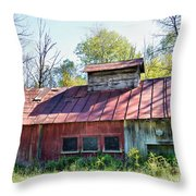 Sugar House Of Old Throw Pillow