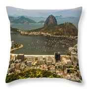 Sugar Loaf Mountain In Rio De Janeiro Throw Pillow