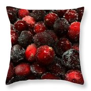 Sugared Cranberries Throw Pillow
