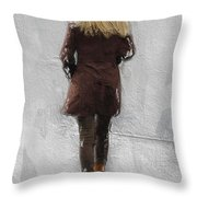 Suicide Blonde Throw Pillow