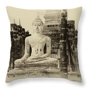 Buddha Sukhothai Thailand 1 Throw Pillow