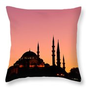 Suleymaniye Sundown 01 Throw Pillow by Rick Piper Photography