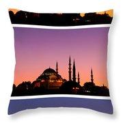 Suleymaniye Sundown Triptych 03 Throw Pillow