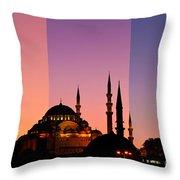 Suleymaniye Sundown Triptych 05 Throw Pillow