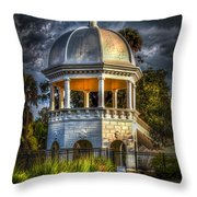 Sulfur Springs Gazebo Throw Pillow