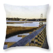 Sullivan's Island To Old Village Throw Pillow