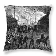 Sullivans March, 1779 Throw Pillow