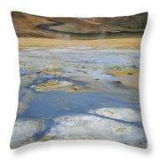Sulphur And Volcanic Earth Throw Pillow