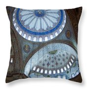 Sultan Ahmed Camii Blue Mosque Istanbul Turkey Throw Pillow