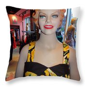Sultry In Sunflowers Throw Pillow