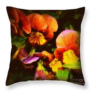 Sultry Nights - Flower Photography Throw Pillow