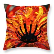 Sultry Petals Throw Pillow