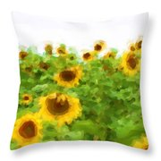 Sultry Sunflowers Throw Pillow