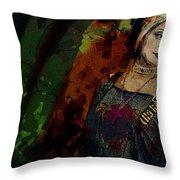 Sum Angle Gothic Portrait Throw Pillow