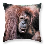 Sumatran Orangutan Throw Pillow