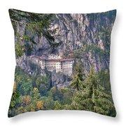 Sumela Monastery In Black Sea Region Of Turkey Throw Pillow