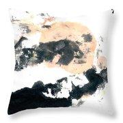 Sumi Abstract Throw Pillow