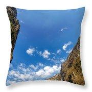 Sumidero Canyon Sky Throw Pillow