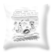 'summer 2000' Throw Pillow