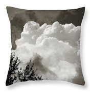 Summer Afternoon Cloudscape Throw Pillow