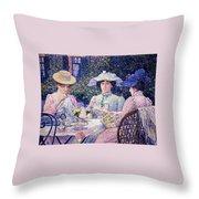 Summer Afternoon Tea In The Garden-1901 Throw Pillow