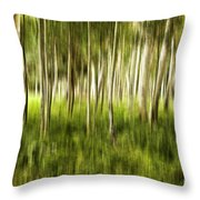 Summer Aspens Throw Pillow