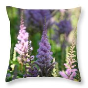 Summer Astilbe Throw Pillow