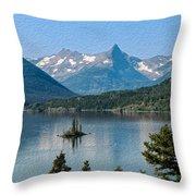 Summer At Glacier National Park Throw Pillow
