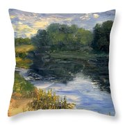 Summer At Jackson Lake Throw Pillow