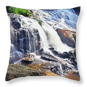 Summer At The Falls Throw Pillow