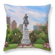 Summer At The Gardens Throw Pillow by Laura Lee Zanghetti