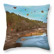 Summer At The River Throw Pillow