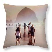Summer At The Seashore  Throw Pillow