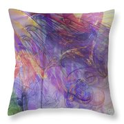 Summer Awakes - Square Version Throw Pillow