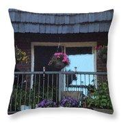 Summer Balcony Throw Pillow