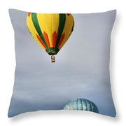 Summer Balloons Throw Pillow