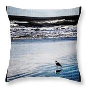Summer Beach Throw Pillow by Perry Webster