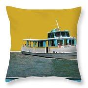 Summer Boat Ride 02 Walt Disney World Throw Pillow